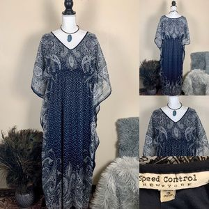 Speed Control Dress Festival Kaftan Maxi Paisley